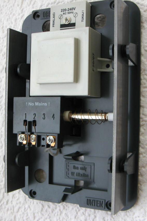 t rklingel t rgong 230v betrieb dank eingeb trafo nr40 ebay. Black Bedroom Furniture Sets. Home Design Ideas