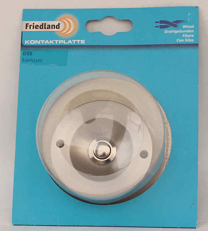 Friedland-EDELSTAHL-KLINGELTASTER-IP44-Klingelknopf-Kontaktplatte-u-P