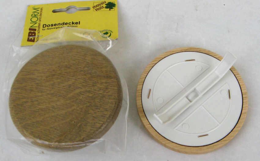 3x dosendeckel federdeckel f abzweigdose 70mm dose eiche for Deckel elektrodose